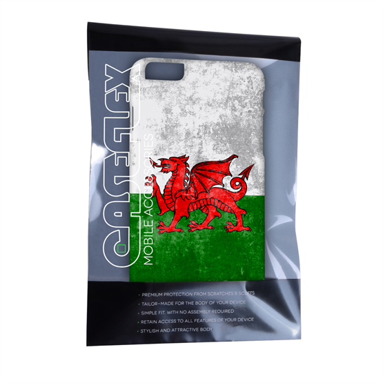 Caseflex iPhone 6 Plus and 6s Plus Retro Wales Flag Case