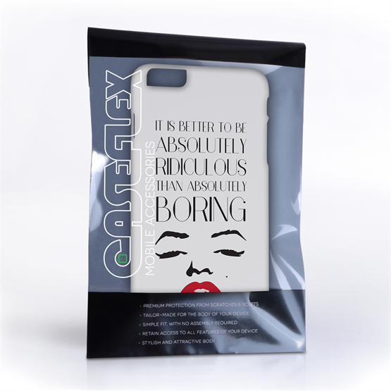 Caseflex iPhone 6 Plus and 6s Plus Marilyn Monroe Face Quote Case