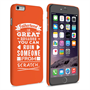 Caseflex Fatherhood Funny Quote iPhone 6 and 6s Plus Case – Orange