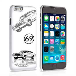 Caseflex Chevrolet Chevelle Classic Car iPhone 6 and 6s Plus Case- White