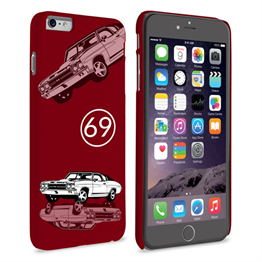 Caseflex Chevrolet Chevelle Classic Car iPhone 6 and 6s Plus Case- Burgundy