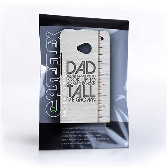 Caseflex HTC One Dad Growing Up Quote Case/Cover