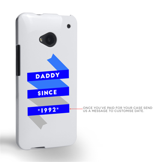 Caseflex Daddy Custom Year HTC One Case - White