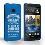 Caseflex Fatherhood Funny Quote HTC One Case – Blue