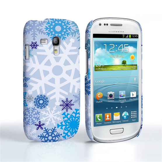 Samsung Galaxy S3 Mini Caseflex  Winter Christmas Snowflake Cover