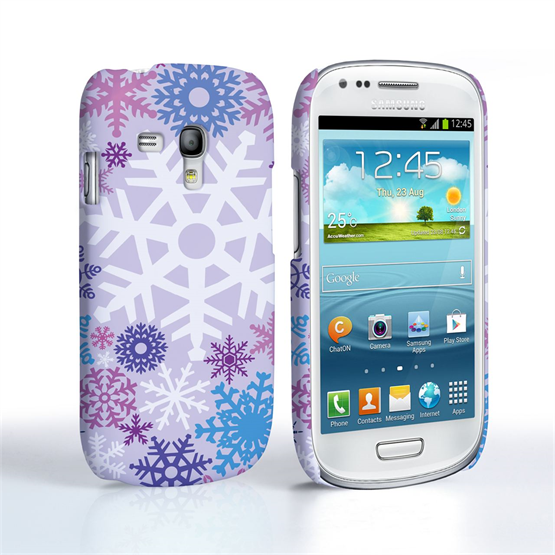 Samsung Galaxy S3 Mini Winter Christmas Snowflake Cover – Purple