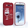 Caseflex Samsung Galaxy S3 Mini 'Really Thirsty' Quote Hard Case – Red