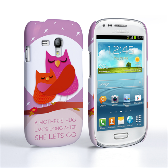 Caseflex Samsung Galaxy S3 Mini Mummy Owl Hard Case – Purple and Pink