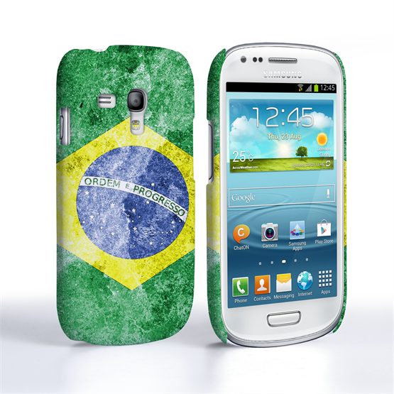 Caseflex Samsung Galaxy S3 Mini Retro Brazil Flag Case
