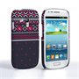 Caseflex Samsung Galaxy S3 Mini Fairisle Case – Grey and Red Half Pattern