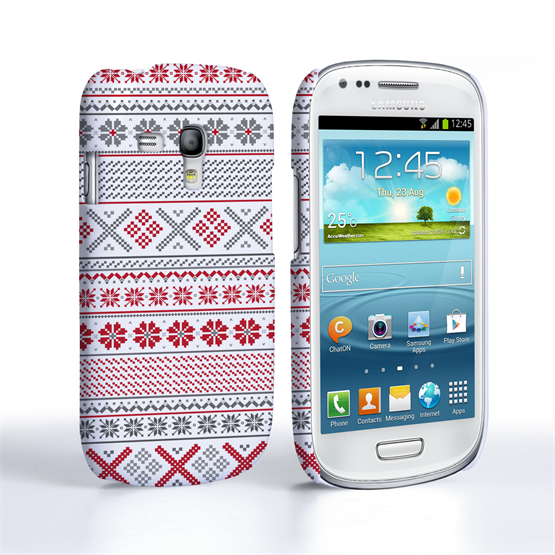 Caseflex Samsung Galaxy S3 Mini Fairisle Case – Red, White and Grey