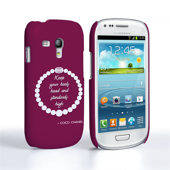 Caseflex Samsung Galaxy S3 Mini Chanel Diamond And Pearls Quote Case