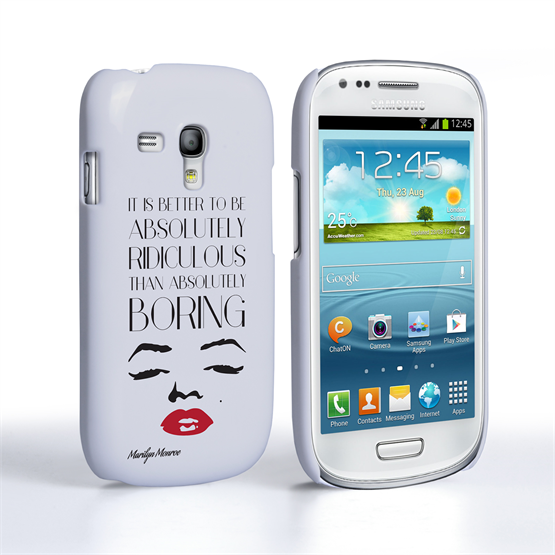 Caseflex Samsung Galaxy S3 Mini Marilyn Monroe Face Quote Case