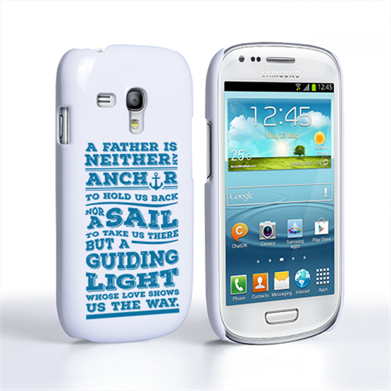 Caseflex Father Sail Quote Samsung Galaxy S3 Mini Case