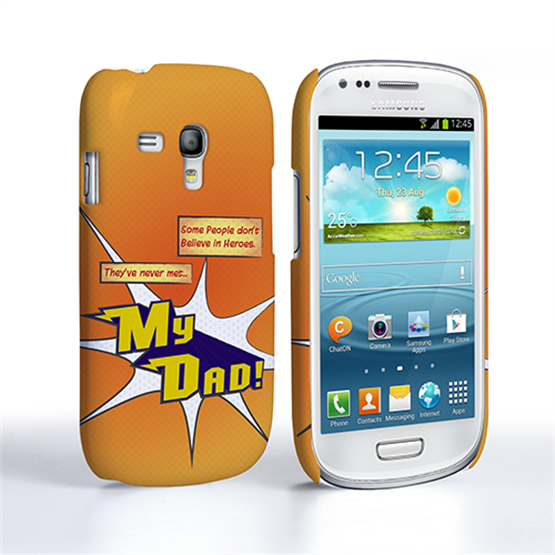 Caseflex My Dad Hero Cartoon Samsung Galaxy S3 Mini Case – Orange