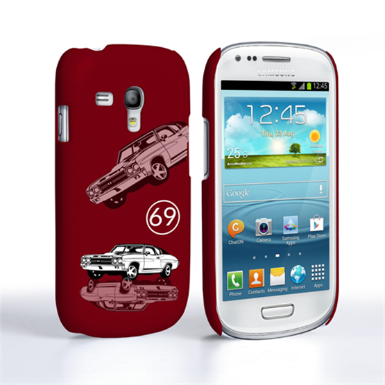 Caseflex Chevrolet Chevelle Classic Car Samsung Galaxy S3 Mini Case- Burgundy
