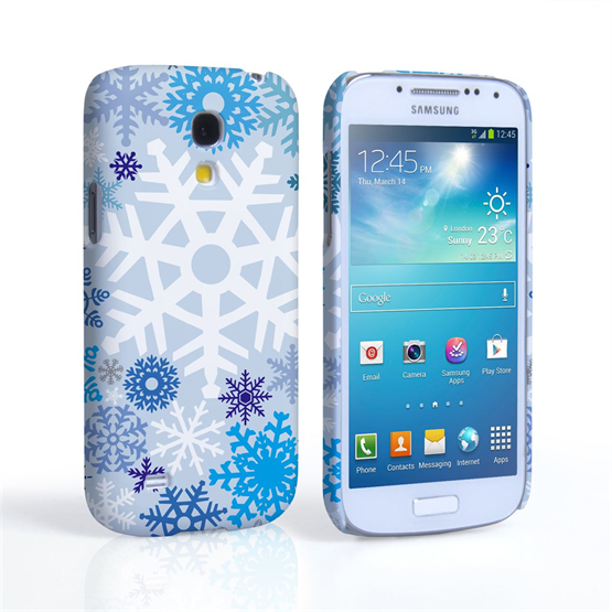 Samsung Galaxy S4 Mini Winter Christmas Snowflake Cover – Blue