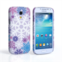 Samsung Galaxy S4 Mini Winter Christmas Snowflake Cover – Purple