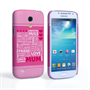 Caseflex Samsung Galaxy S4 Mini Mum Word Collage Hard Case – Pink