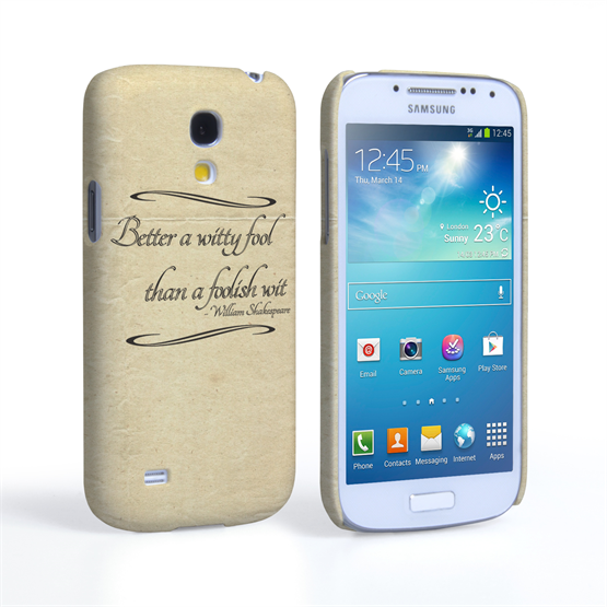Caseflex Samsung Galaxy S4 Mini Shakespeare Quote Case