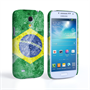 Caseflex Samsung Galaxy S4 Mini Retro Brazil Flag Case
