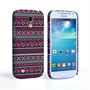 Caseflex Samsung Galaxy S4 Mini Fairisle Case – Grey with Red Background