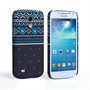 Caseflex Samsung Galaxy S4 Mini Fairisle Case – Grey and Blue Half Pattern