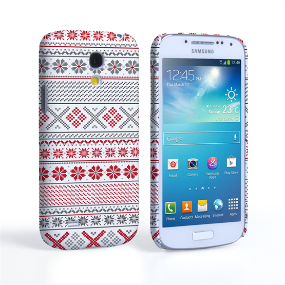 Caseflex Samsung Galaxy S4 Mini Fairisle Case – Red, White and Grey