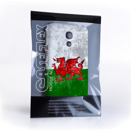 Caseflex Samsung Galaxy S4 Mini Retro Wales Flag Case