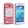 Caseflex Samsung Galaxy S4 Mini Chanel 'Fashion Changes' Quote Case – Red and White