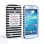 Caseflex Samsung Galaxy S4 Mini Chanel 'Fashion Changes' Quote Case – Black and White