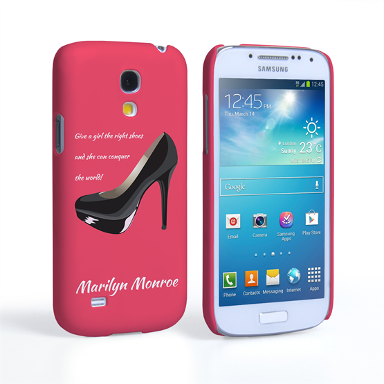 Caseflex Samsung Galaxy S4 Mini Marilyn Monroe 'Shoe' Quote Case