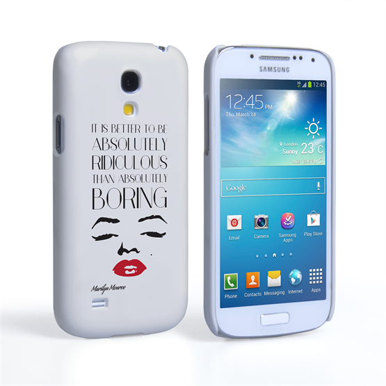 Caseflex Samsung Galaxy S4 Mini Marilyn Monroe Face Quote Case