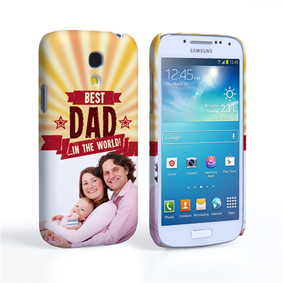 Caseflex Samsung Galaxy S4 Mini Best Dad in the World (Red) Case/Cover