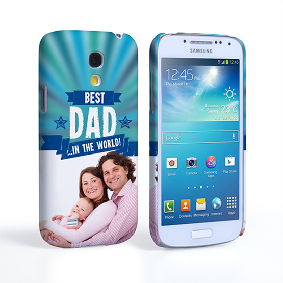 Caseflex Samsung Galaxy S4 Mini Best Dad in the World (Blue) Case/Cover