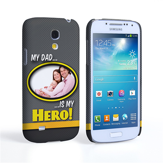My Dad, My Hero Customised Photo Samsung Galaxy S4 Mini Case - Grey