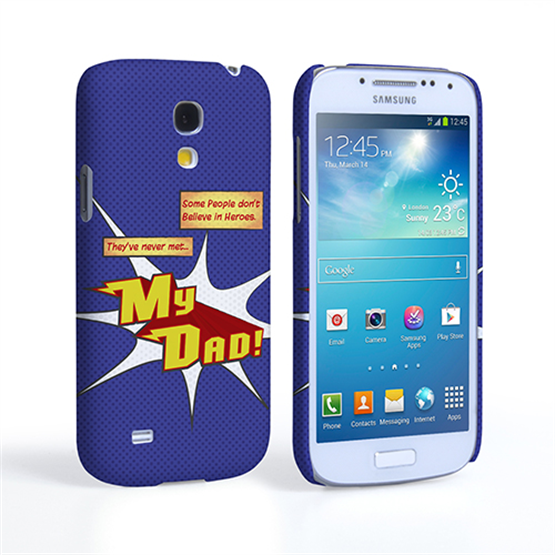Caseflex My Dad Hero Cartoon Samsung Galaxy S4 Mini Case – Blue
