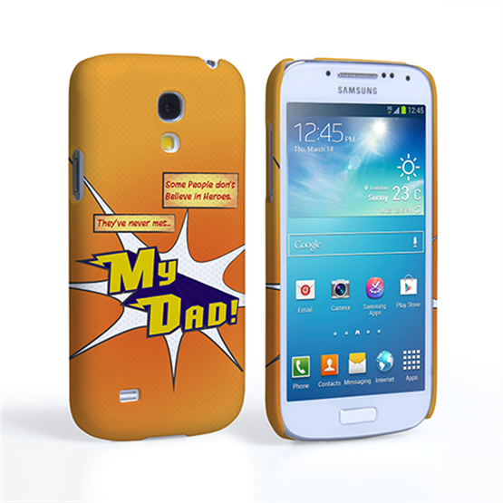 Caseflex My Dad Hero Cartoon Samsung Galaxy S4 Mini Case – Orange