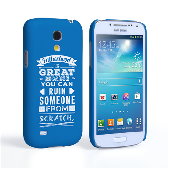Caseflex Fatherhood Funny Quote Samsung Galaxy S4 Mini Case – Blue