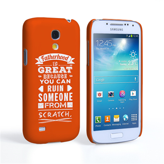Caseflex Fatherhood Funny Quote Samsung Galaxy S4 Mini Case – Orange