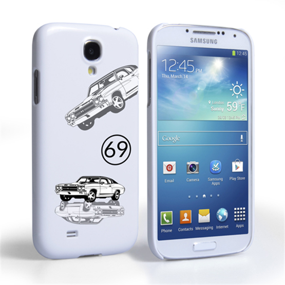 Caseflex Chevrolet Chevelle Classic Car Samsung Galaxy S4 Mini Case- White