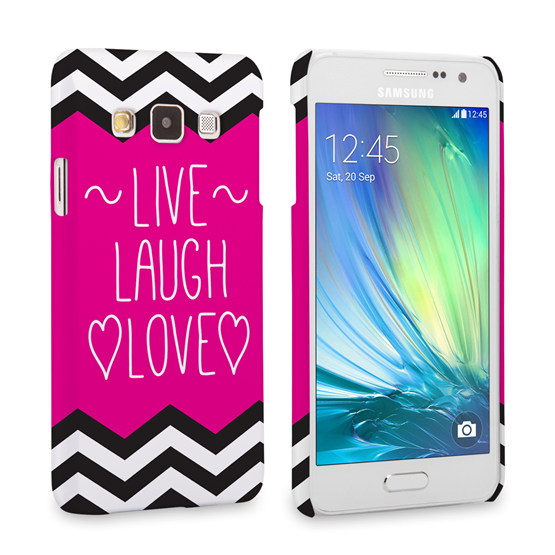 Caseflex Samsung Galaxy A3 Live Laugh Love Heart Case