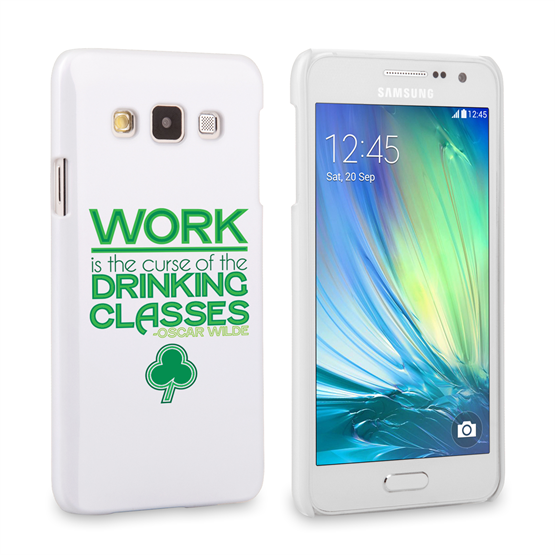Caseflex Samsung Galaxy A3 Wilde Drinking Classes Quote Hard Case – White and Green