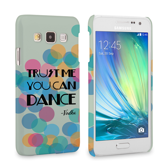 Caseflex Samsung Galaxy A3 Vodka Dance Quote Hard Case – Green