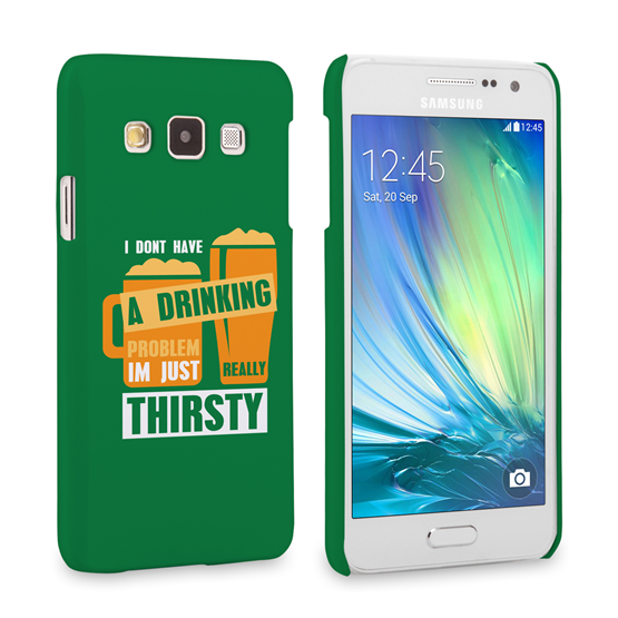 Caseflex Samsung Galaxy A3 'Really Thirsty' Quote Hard Case – Green