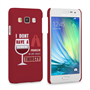 Caseflex Samsung Galaxy A3 'Really Thirsty' Quote Hard Case – Red