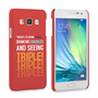 Caseflex Samsung Galaxy A3 Single, Double, Triple Quote Hard Case – Red