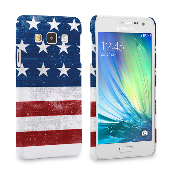Caseflex Samsung Galaxy A3 Retro USA Flag Case