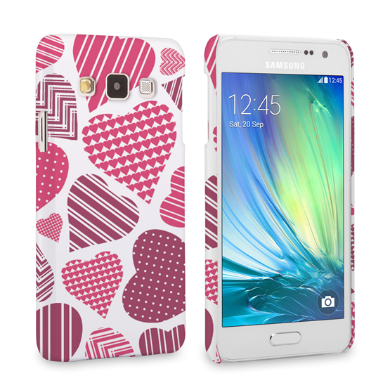 Caseflex Samsung Galaxy A3 Love Heart Pattern Case