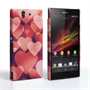Caseflex Sony Xperia Z Red Shimmering Hearts Case